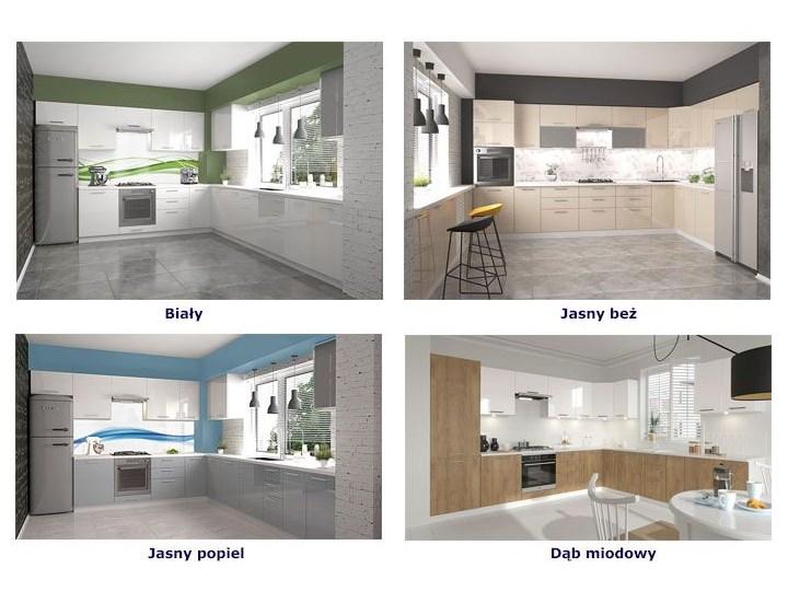Kuchenna szafka z witryną prawostroną Limo 22X - biała Płyta MDF Kolor Biały Kategoria Szafki kuchenne