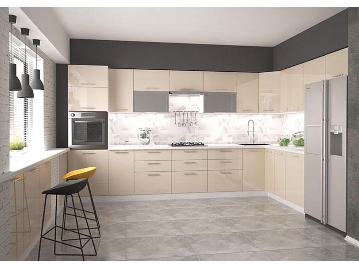 Kuchenna szafka z witryną prawostroną Limo 22X - biała Kolor Biały Płyta MDF Kategoria Szafki kuchenne