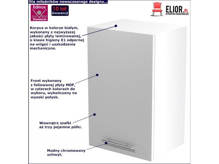 Kuchenna szafka górna Limo 23X - biały połysk Kategoria Szafki kuchenne Płyta MDF Szafka wisząca Kolor Szary