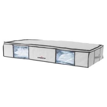 Zestaw 2 białych organizerów pod łóżko z workiem próżniowym Compactor XLarge Underbed Life, 105x15,5 cm