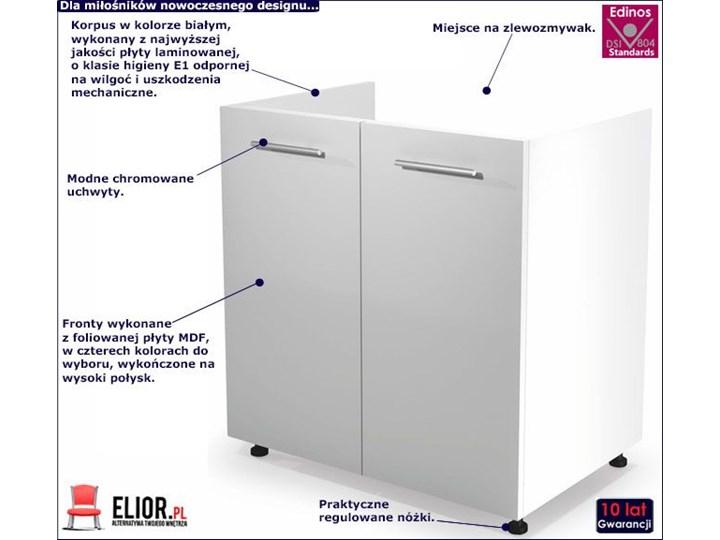 Kuchenna szafka zlewozmywakowa Limo 26X - biały połysk Płyta MDF Pod zlewozmywak Kategoria Szafki kuchenne