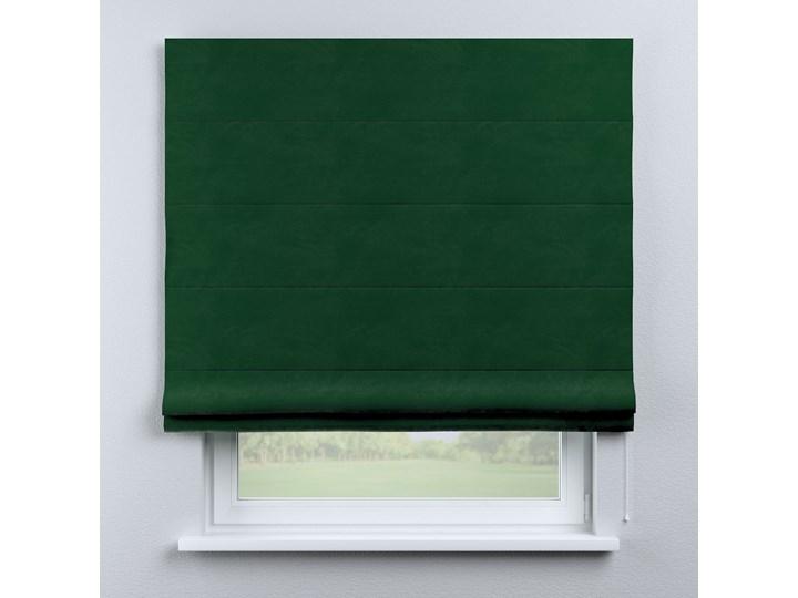 Roleta rzymska Billie, butelkowa zieleń, szer.100 × dł.170 cm, Posh Velvet Wzór Dla dzieci Kolor Zielony