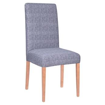 Pokrowiec na krzesło elastyczny niebieska kratka