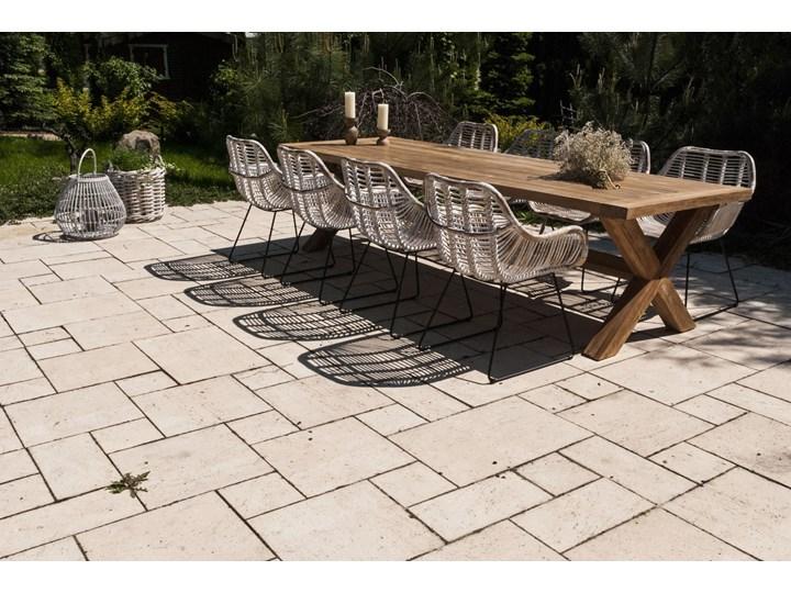 Meble ogrodowe LYON III Zawartość zestawu Krzesła Drewno Stoły z krzesłami Kolor Brązowy