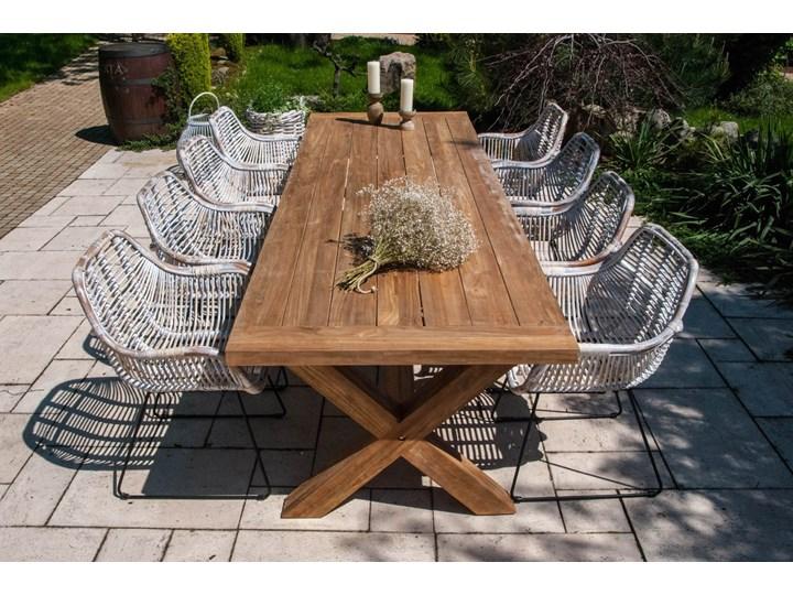 Meble ogrodowe LYON III Drewno Stoły z krzesłami Zawartość zestawu Fotele Styl Rustykalny