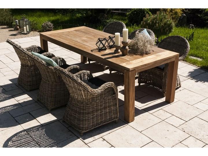 Meble ogrodowe NIMES IV Rattan Drewno Zawartość zestawu Fotele Stoły z krzesłami Technorattan Aluminium Kategoria Zestawy mebli ogrodowych