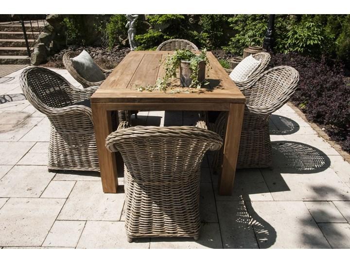 Meble ogrodowe NIMES IV Rattan Styl Minimalistyczny Stoły z krzesłami Aluminium Drewno Technorattan Kategoria Zestawy mebli ogrodowych