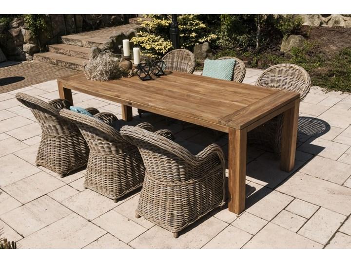 Meble ogrodowe NIMES IV Drewno Technorattan Aluminium Stoły z krzesłami Styl Minimalistyczny Rattan Styl Rustykalny