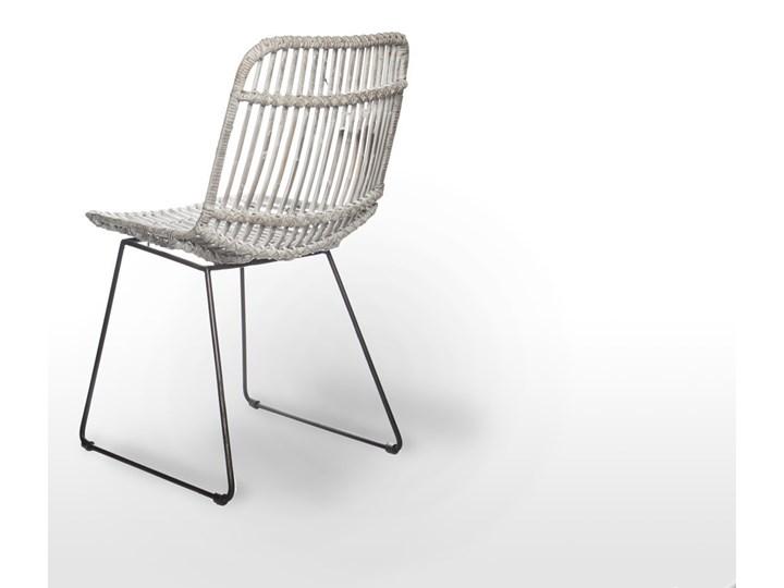 Meble ogrodowe LYON XI Stoły z krzesłami Technorattan Aluminium Rattan Zawartość zestawu Krzesła Drewno Styl Rustykalny