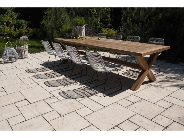 Meble ogrodowe LYON XI Technorattan Stoły z krzesłami Drewno Aluminium Rattan Zawartość zestawu Krzesła