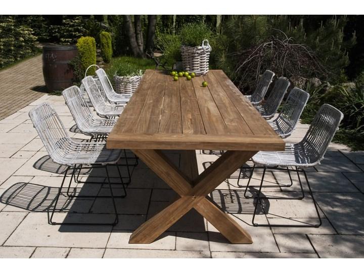 Meble ogrodowe LYON XI Aluminium Stoły z krzesłami Technorattan Drewno Rattan Styl Rustykalny