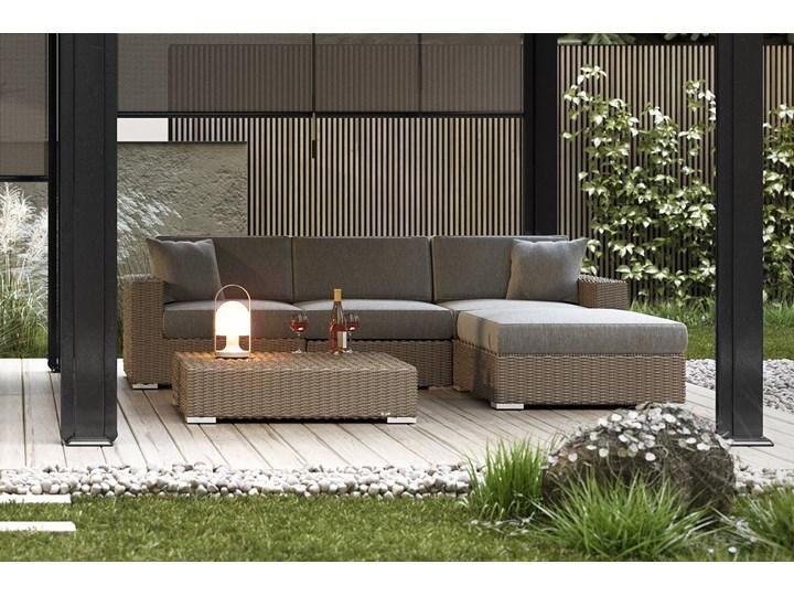 Meble ogrodowe MILANO I royal piaskowe Technorattan Zestawy modułowe Rattan Tworzywo sztuczne Drewno Aluminium Kolor Biały