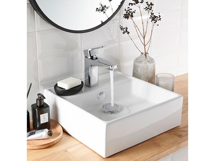 Umywalka nablatowa ceramiczna GoodHome Hendra 38 x 38,5 cm biała Szerokość 38 cm Ceramika Kwadratowe Nablatowe Kolor Biały