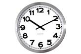 Zegar ścienny KARLSSON Numbers Steel Polished bardzo duży biały