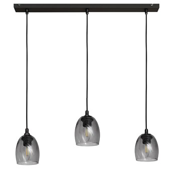 Lampa BRILLANT na listwie W-L 8014/3 BK+SM