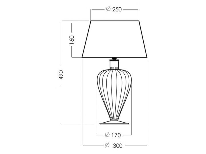 Lampa stołowa BRISTOL L046051222 4concepts L046051222 Lampa z kloszem Wysokość 49 cm Styl Nowoczesny
