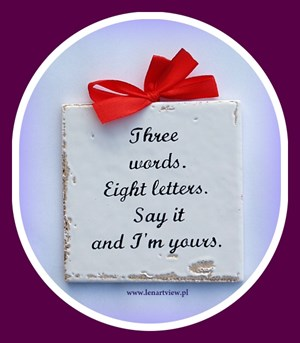 three words eight letters say it and i m yours three three words eight letters say it and i m yours tablice i 158