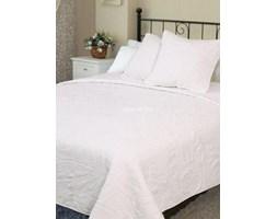 Narzuta bawełniana jednolita biała 160x220