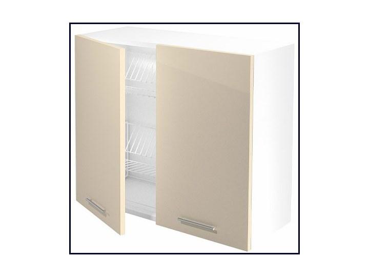 Kuchenna szafka górna z ociekaczem Limo 28X - jasny beż połysk Płyta MDF Szafka wisząca Kolor Beżowy Kategoria Szafki kuchenne