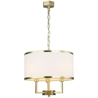 """Lampa wisząca złota abażur kremowy """"Caspian Gold S"""" 3x40w"""