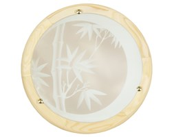 Lampa sufitowa ze szkła do przedpokoju brązowa Candellux BAMBOO 14-06653