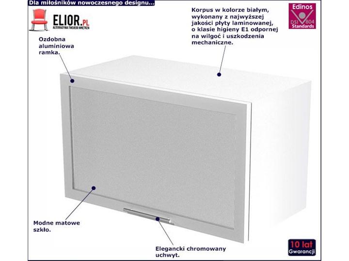 Kuchenna szafka górna okapowa z witryną Limo 30X - biała Szafka wisząca Płyta MDF Kolor Biały