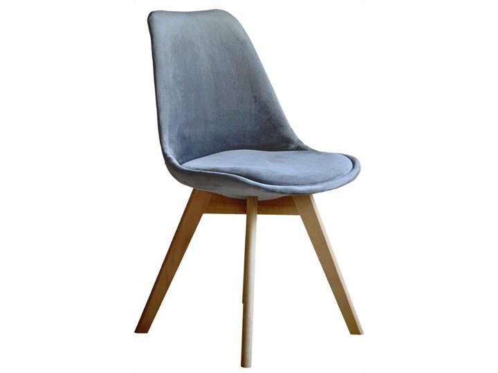 NOWOCZESNE KRZESŁO ART132C POPIEL WELUR #21 Pikowane Drewno Tworzywo sztuczne Tapicerowane Tkanina Krzesło inspirowane Styl Nowoczesny Pomieszczenie Jadalnia