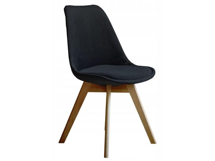 NOWOCZESNE KRZESŁO ART132C CZARNY WELUR #66 Drewno Tworzywo sztuczne Pomieszczenie Jadalnia Kategoria Krzesła kuchenne