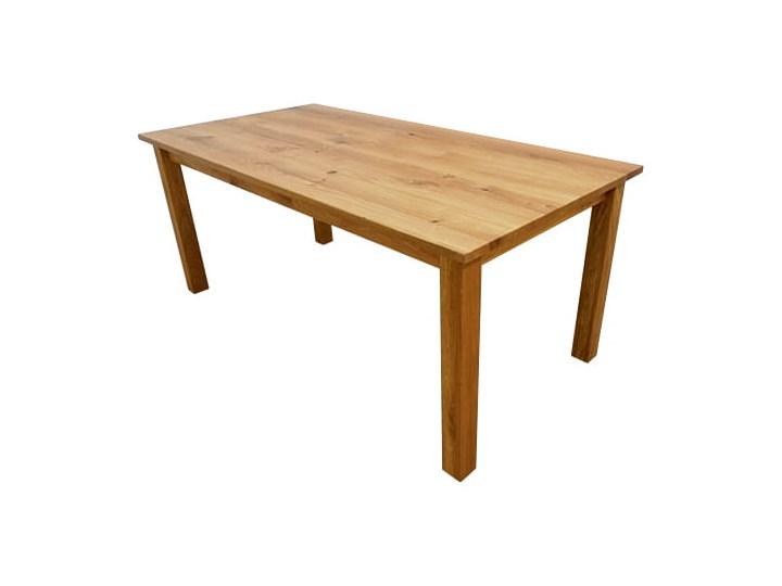 Stół dębowy Natur 140 + 2x40cm Soolido Drewno Ceramika Metal Szerokość 90 cm Kamień Długość 140 cm  Kolor Brązowy