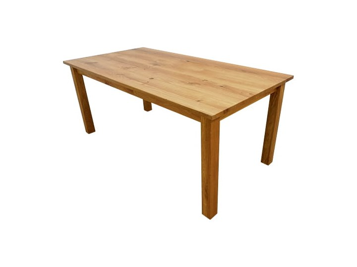 Stół dębowy Natur 160 + 2x40cm Soolido Drewno Szerokość 90 cm Długość 160 cm  Kolor Brązowy