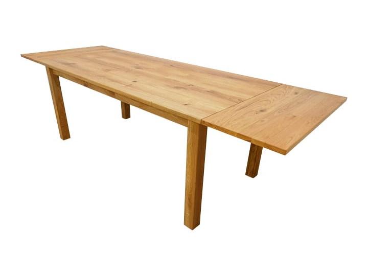 Stół dębowy Natur 160 + 2x40cm Soolido Meble Drewno Szerokość 90 cm Długość 160 cm  Rozkładanie Rozkładane