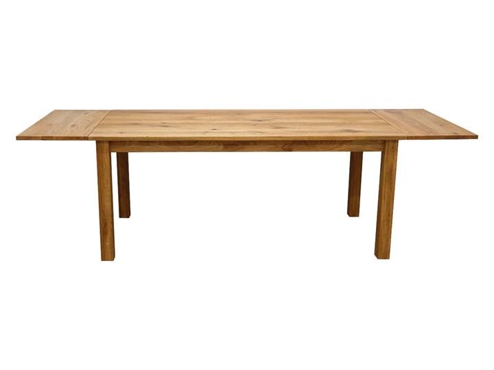 Stół dębowy Natur 160 + 2x40cm Soolido Meble Kolor Brązowy Szerokość 90 cm Długość 160 cm  Drewno Kształt blatu Prostokątny