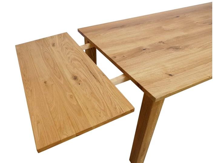 Stół dębowy Natur 160 + 2x40cm Soolido Meble Kategoria Stoły kuchenne Drewno Długość 160 cm  Szerokość 90 cm Kształt blatu Prostokątny