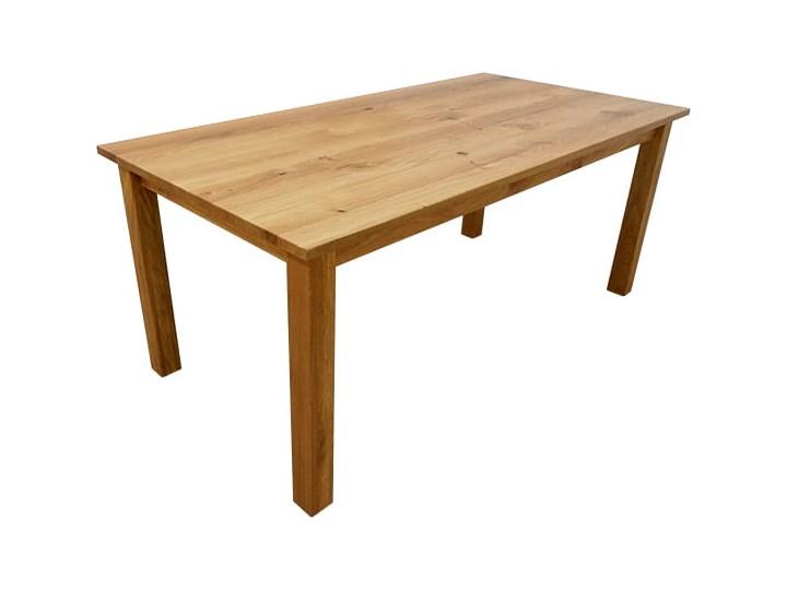 Stół dębowy Natur 180 + 2x40cm Soolido Meble Długość 180 cm  Drewno Szerokość 80 cm Rozkładanie Szerokość 90 cm Rozkładanie Rozkładane