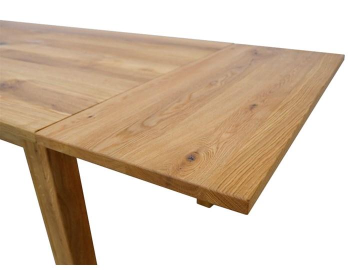 Stół dębowy Natur 180 + 2x40cm Soolido Meble Długość 180 cm  Szerokość 80 cm Drewno Szerokość 90 cm Pomieszczenie Stoły do kuchni