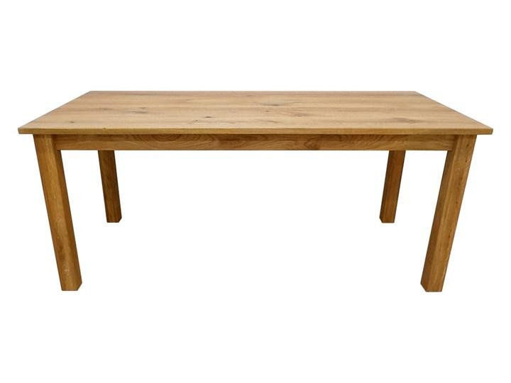 Stół dębowy Natur 180 + 2x40cm Soolido Meble Szerokość 90 cm Długość 180 cm  Szerokość 80 cm Drewno Pomieszczenie Stoły do kuchni