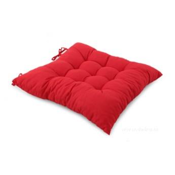 Poduszka na krzesło, pikowana czerwona