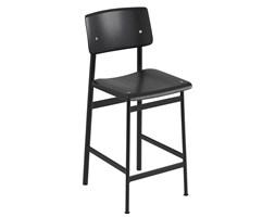 Loft Muuto - czarny, klasyczny stołek barowy w skandynawskim stylu
