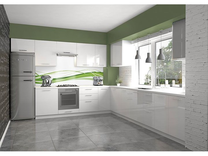 Szafka kuchenna górna narożna Limo 32X - jasny beż połysk Szafka narożna Płyta MDF Kolor Beżowy