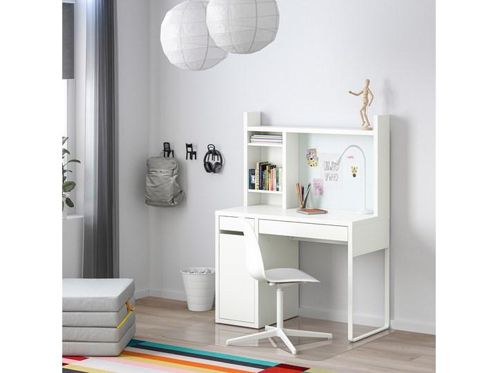 MICKE Biurko Głębokość 50 cm Biurko regulowane Pomieszczenie Biuro Szerokość 105 cm Kolor Biały