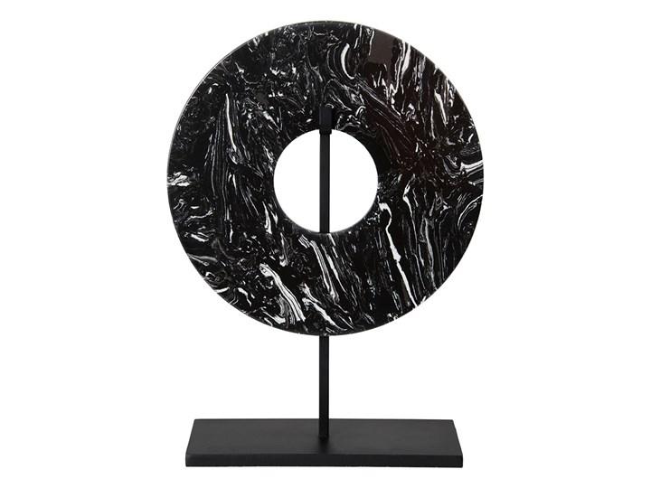 Dekoracja z czarnego marmuru 35cm Ring Zwierzęta