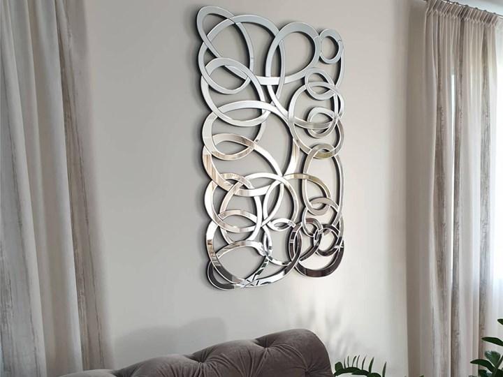 Lustro dekoracyjne 12TM053 80 x 120 cm Nieregularne Lustro bez ramy Kategoria Lustra Ścienne Pomieszczenie Salon