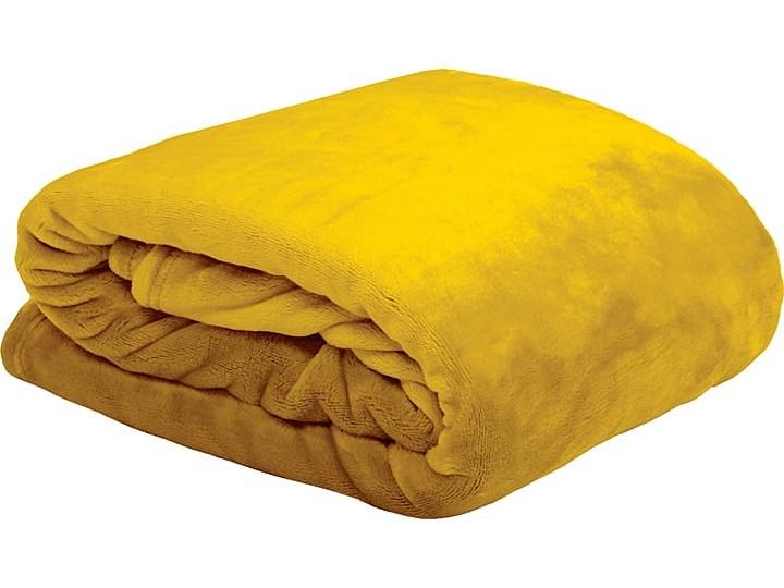 """Pled """"Doudou"""" w kolorze żółtym - 160 x 130 cm"""
