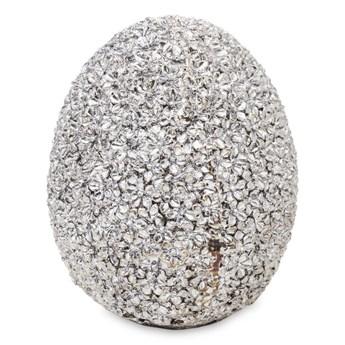 KRYSZTAŁOWE KWIATKI jajko ozdobne, wys. 14 cm