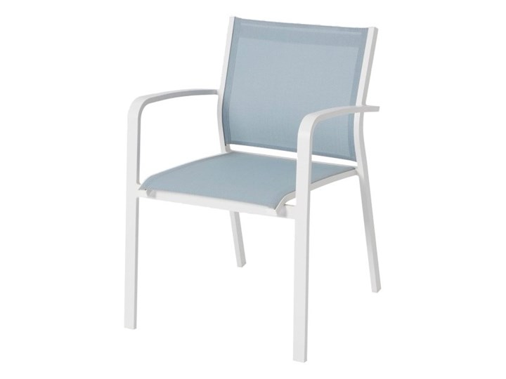 Krzesło GoodHome Bacopia niebieskie Aluminium Tworzywo sztuczne