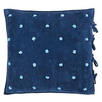 Poduszka dekoracyjna z pomponami Designers Guild Sevanti Indigo