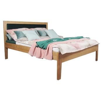 Łóżko Floryda Drewniane z Tapicerowanym Zagłówkiem