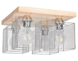 Industrialna LAMPA sufitowa NORMAN WOOD 8175460 Spotlight metalowa OPRAWA druciane klatki loftowy plafon brzoza chrom