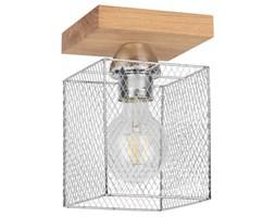 Loftowa LAMPA sufitowa NORMAN WOOD 8175174 Spotlight industrialna OPRAWA druciana klatka plafon metalowy dąb olejowany chrom