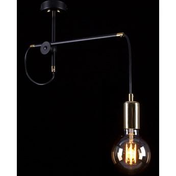 ARTEMIS 1 BLACK 480/1 lampa wisząca sufitowa loft regulowana złote elementy